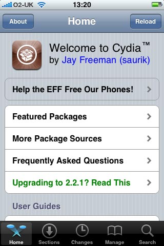Cydia Once Opened