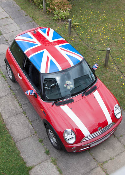 mini graphics union jack roof fitted. Black Bedroom Furniture Sets. Home Design Ideas