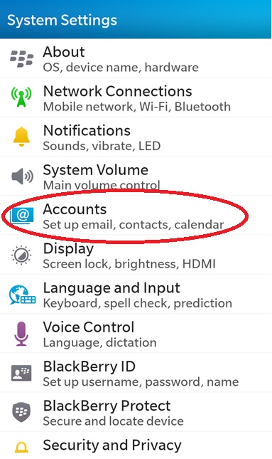 How To Connect A Blackberry Z10 to Microsoft Exchange using