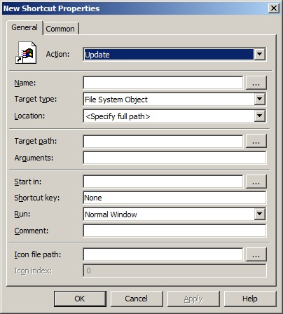 Create Desktop / Start Menu Shortcuts Using Group Policy Preferences -