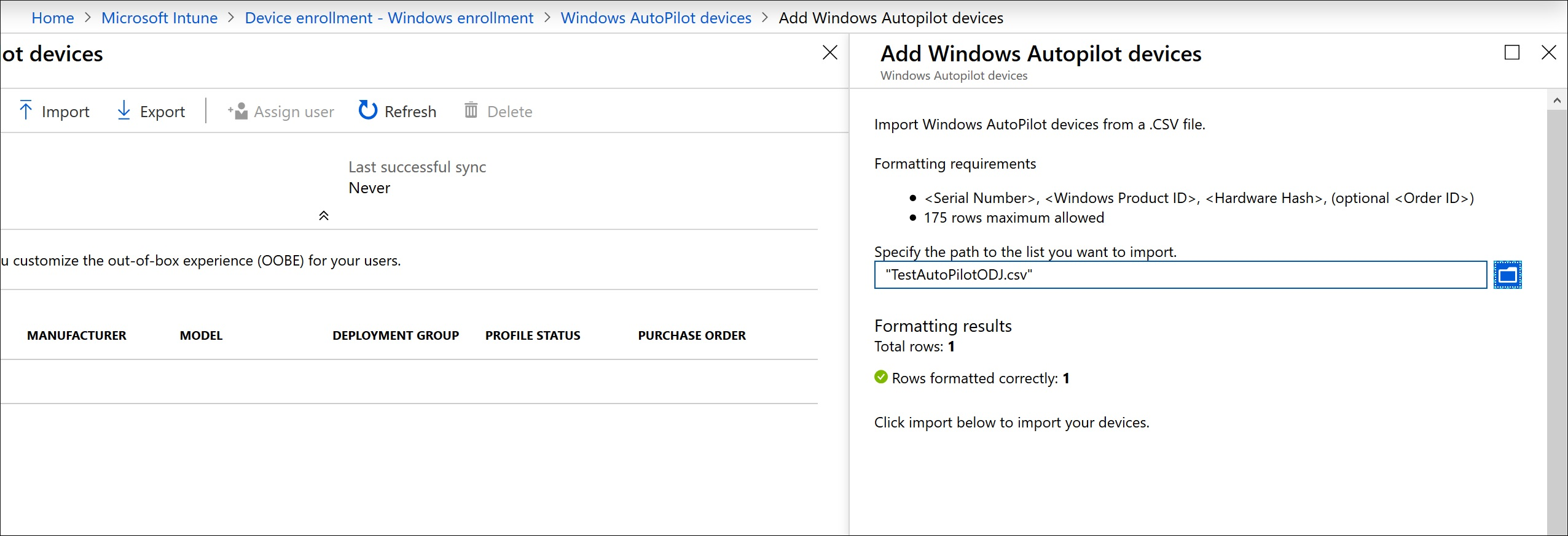 intune find device by serial number