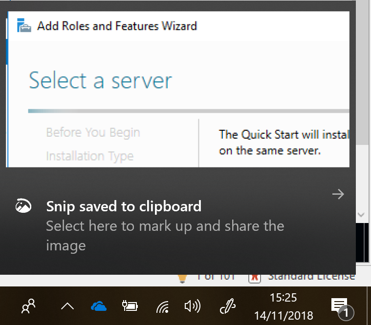 Windows 1809 - Disable Snip and Sketch Notifications -